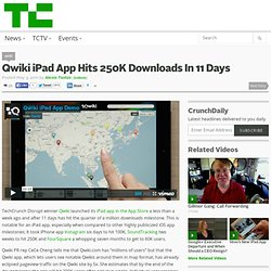 Qwiki iPad App Hits 250K Downloads In 11 Days