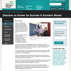 Qwizdom on Screen for Success in Eurotech Market