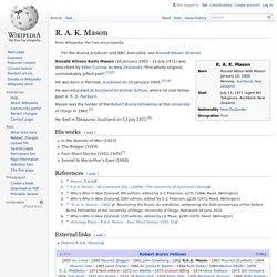 R. A. K. Mason