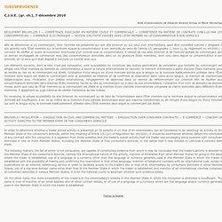 Jurisprudence UE : contrat et consommateur