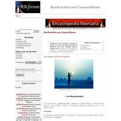 R.A. Forum > Recherches sur l'anarchisme