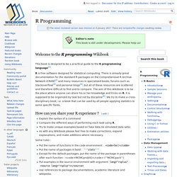 R Programming - Wikibooks, collection of open-content textbooks