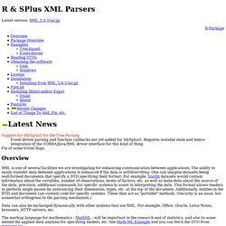 R & SPlus XML Parsers
