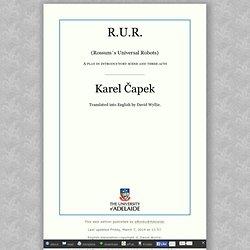 (en) R.U.R., by Karel Capek