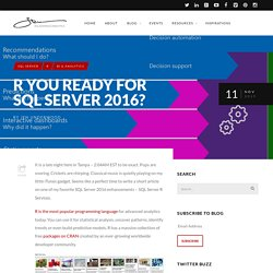R You Ready for SQL Server 2016?
