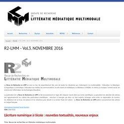 R2-LMM - Vol.3. NOVEMBRE 2016