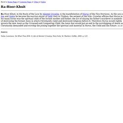 Ra-Hoor-Khuit