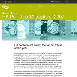 RA: RA Poll: Top 30 tracks of 2007