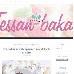 Fantastisk rabarberpaj med mandel och maräng - Tessanbakar