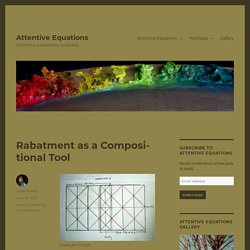 Rabatment as a Compositional Tool – Attentive Equations