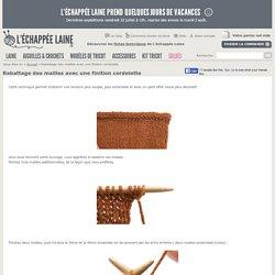 Louise161 a ajouté : Rabattage des mailles avec une finition cordelette - L'échappée Laine