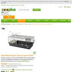 Rabbit 120 - Cage pour lapin et cochon d'Inde