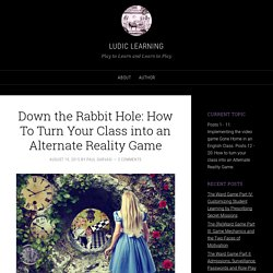 Down the Rabbit Hole: How To Turn Your Class into an Alternate Reality Game
