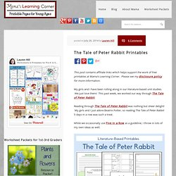 The Tale of Peter Rabbit Printables - Mamas Learning Corner