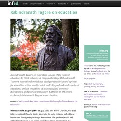 Rabindranath Tagore on education