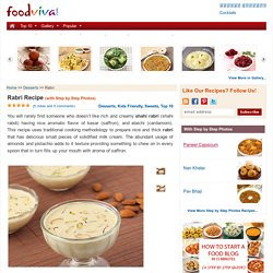 Rabri Recipe - Dry Fruit Laced Rich and Creamy Shahi Kesar Rabdi