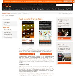 RAC Traffic mobile app for iPhone and Android