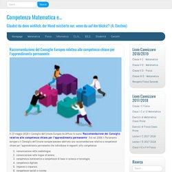 Raccomandazione del Consiglio Europeo relativa alle competenze chiave per l'a...