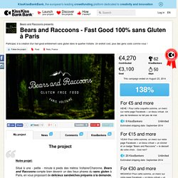 Bears and Raccoons - Fast Good 100% sans Gluten à Paris présenté par Bears and Raccoons