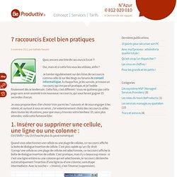 Raccourcis Excel : gain de temps avec les services managés