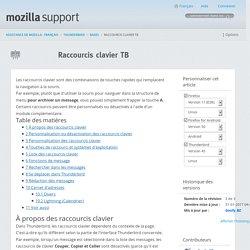 Raccourcis clavier TB - Mozilla Support Community