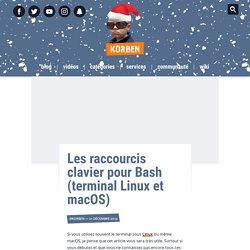 Les raccourcis clavier pour Bash (terminal Linux et macOS)