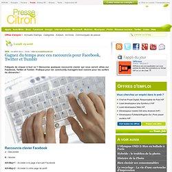Raccourcis pour Facebook, Twitter et Tumblr pour gagner du temps sur les réseaux sociaux