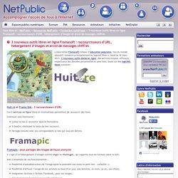 3 nouveaux outils libres en ligne Framasoft : raccourcisseurs d'URL, hébergement d'images et envoi de messages chiffrés