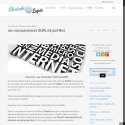 155+ raccourcisseurs d'URL (tinyurl-like)