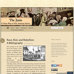 Race, Riot, and Rebellion: A Bibliography