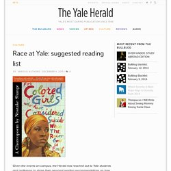 Race at Yale: suggested reading list - The Yale Herald