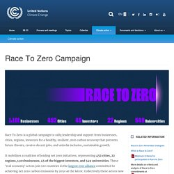 Campagne Race To Zero