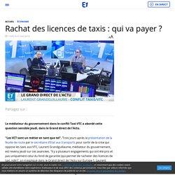 Rachat des licences de taxis : qui va payer ?