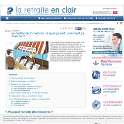 Rachat point retraite
