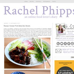 Rachel Phipps: Recipe: Korean Pork Belly Bun Bowls