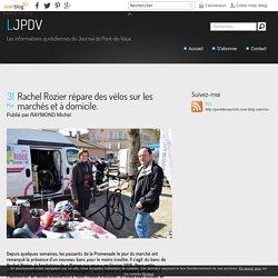Rachel Rozier répare des vélos sur les marchés et à domicile. - LJPDV