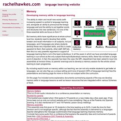 rachelhawkes.com - Memory