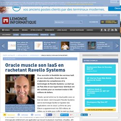 Oracle muscle son IaaS en rachetant Ravello Systems