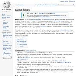 Rachid Benzine