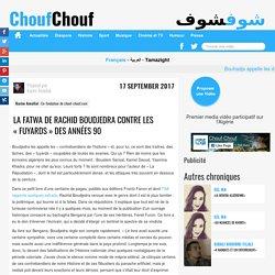 La fatwa de Rachid Boudjedra contre les «fuyards» des années 90