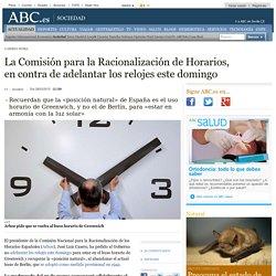 Cambio Hora - La Comisión para la Racionalización de Horarios, en contra de adelantar los relojes este domingo