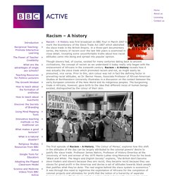 Racism – A history