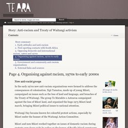 Te Ara – Anti-racism and Treaty of Waitangi activism