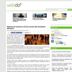 Scènes de racisme à Tunis contre des étudiants africains