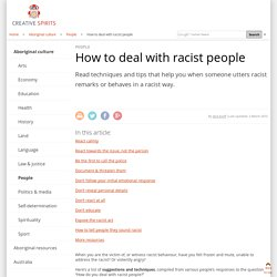 How to deal with racist people