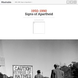 The racist signs South Africans had to look at every day for 40 years