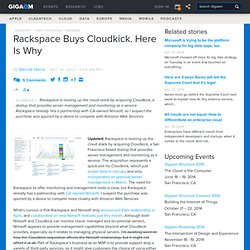 Rackspace Buys Cloudkick