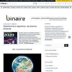Raconte-moi un algorithme : les chemins d'Internet – binaire