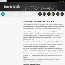 Raconte ta ville-réseau Canopé-L'opération « Raconte ta ville » 2014-2015