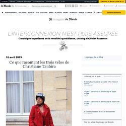 Ce que racontent les trois vélos de Christiane Taubira